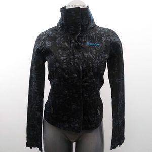 Bench BBQ Jacket Women's Small Black Gray Full Zip